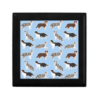 Australia Shepherd Small Square Gift Box