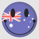 Australia Smiley Classic Round Sticker