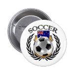 Australia Soccer 2016 Fan Gear 6 Cm Round Badge