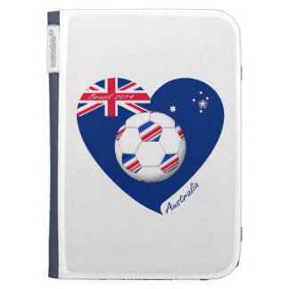 """AUSTRALIA"" Soccer Team. Soccer of Australia Kindle 3 Covers"