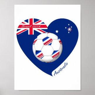 """""""AUSTRALIA"""" Soccer Team. Soccer of Australia Print"""