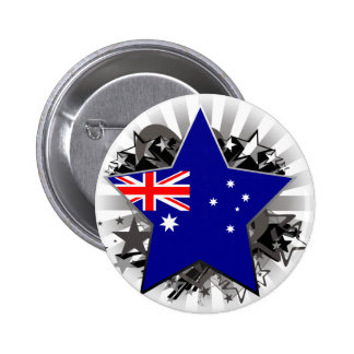 Australia Star 6 Cm Round Badge
