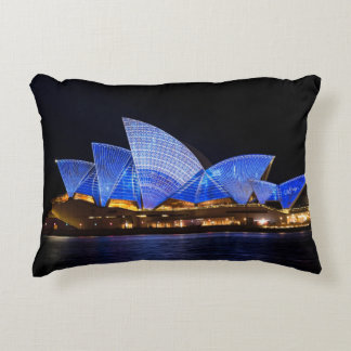 Australia Sydney Opera House At Night Decorative Cushion