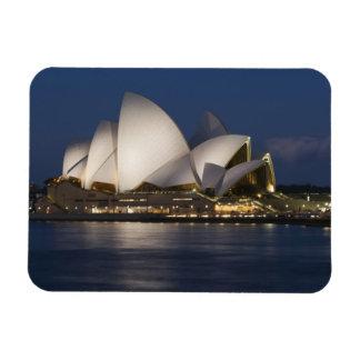 Australia, Sydney. Opera House at night on Rectangular Photo Magnet