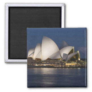 Australia, Sydney. Opera House at night on Square Magnet