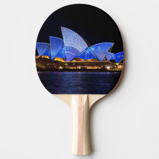 Australia Sydney Opera House At Night Ping Pong Paddle