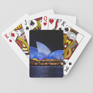 Australia Sydney Opera House At Night Playing Cards