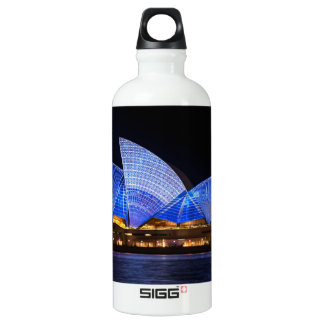 Australia Sydney Opera House At Night Water Bottle