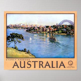 Australia Sydney Restored Vintage Travel Poster