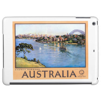 Australia Sydney Restored Vintage Travel Poster Cover For iPad Air