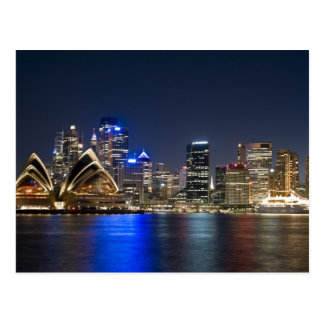 Australia, Sydney. Skyline with Opera House seen Postcard