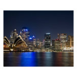 Australia, Sydney. Skyline with Opera House seen Poster