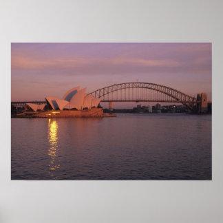 Australia, Sydney, Sydney Opera House built Poster