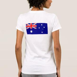 Australia T Shirt Flag on Back Lettering on Front