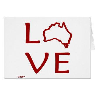 Australia T-Shirts and Gifts, Love Australia! Greeting Card