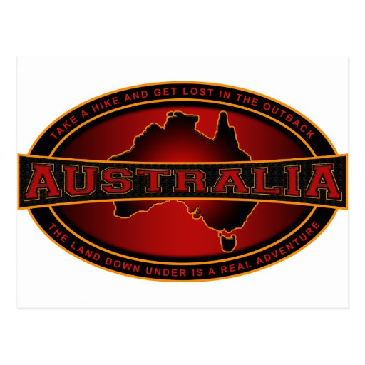 Australia - Take A Hike & Get Lost In The Outback Post Cards