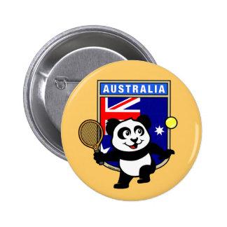 Australia Tennis Panda 6 Cm Round Badge