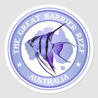 Australia -The Great Barrier Reef Classic Round Sticker