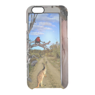 Australia Through A Phone Popout Art, Clear iPhone 6/6S Case