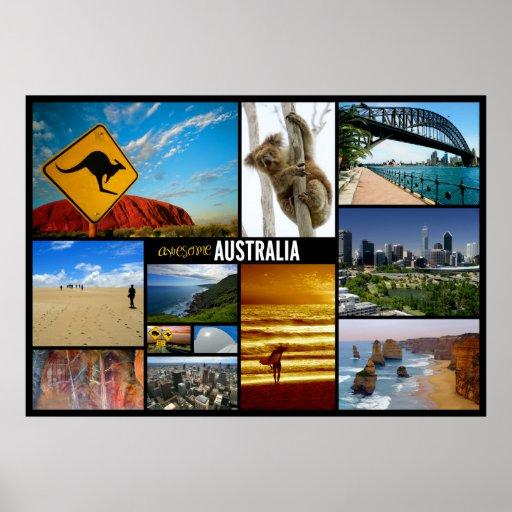 australia travel poster zazzle. Black Bedroom Furniture Sets. Home Design Ideas