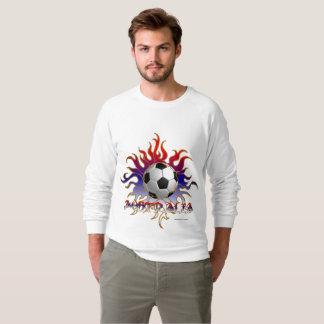 Australia Tribal Soccer Sun Men's Raglan Sweatshirt