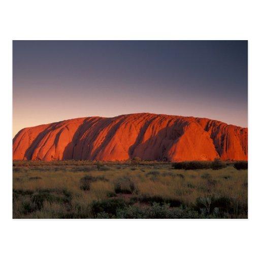 Australia, Uluru National Park. Uluru or Post Card