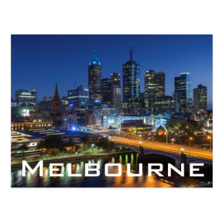 Australia, Victoria, Melbourne, skyline with Postcard
