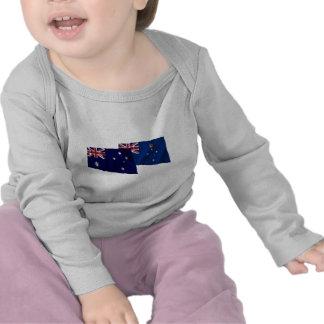 Australia & Victoria Waving Flags T Shirt