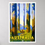 Australia Vintage Travel Poster