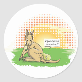 Australia VS New Zealand Classic Round Sticker