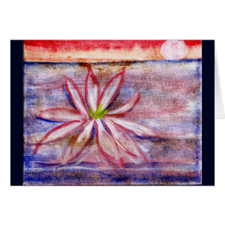 Australia water lily greeting card sends happiness