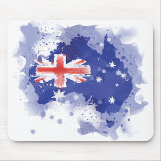 Australia Watercolor Map Mouse Pad