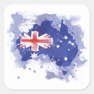 Australia Watercolor Map Square Sticker