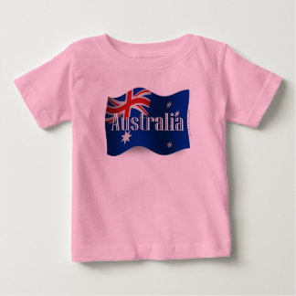 Australia Waving Flag Baby T-Shirt