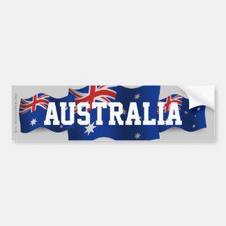 Australia Waving Flag Bumper Sticker