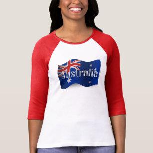 Australia Waving Flag T-Shirt