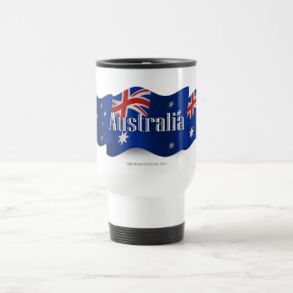 Australia Waving Flag Travel Mug