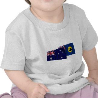 Australia & Western Australia Waving Flags Tees
