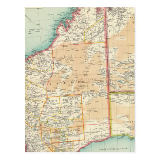 Australia western section postcard