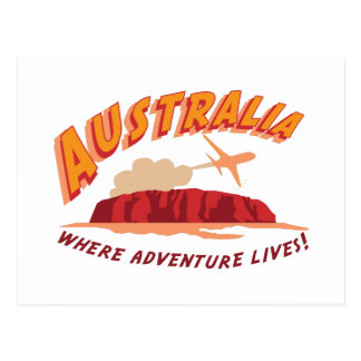 Australia Where Adventure Lives! Postcard