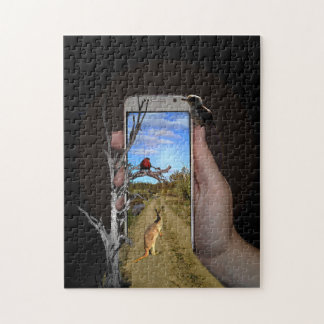 Australia Wildlife In A Mobile Phone, Jigsaw Puzzle