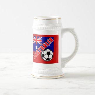AUSTRALIA World Soccer Fan Tshirts 18 Oz Beer Stein
