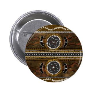 Australian Aboriginal Art - Food Gathering Pinback Button