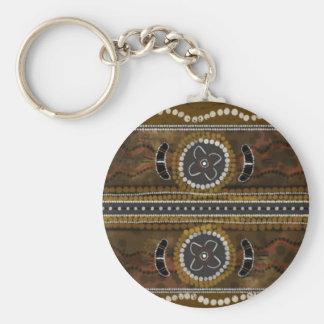 Australian Aboriginal Art - Food Gathering Keychains
