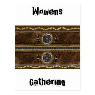 Australian Aboriginal Art - Food Gathering Postcard