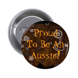 Australian Aboriginal Aussie Pride Art Button