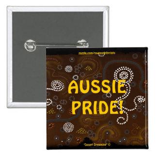 Australian Aboriginal Aussie Pride Button