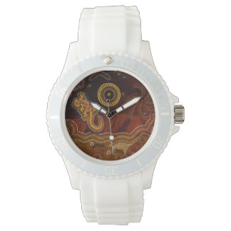 Australian Aboriginal Desert Outback themed Art II Watches