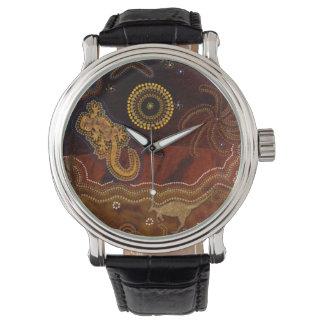 Australian Aboriginal Desert Outback themed Art II Wristwatch