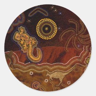 Australian Aboriginal Style Desert Art Stickers